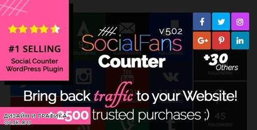 CodeCanyon - SocialFans v5.0.2 - WP Responsive Social Counter Plugin - 6217746