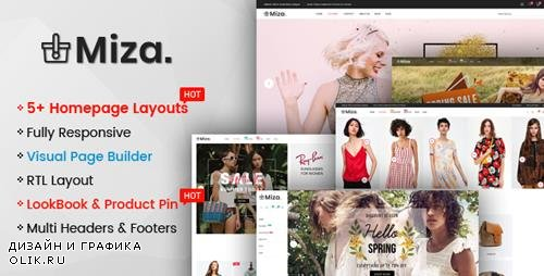 ThemeForest - Miza v1.0.0 - Multipurpose Clothing And Fashion Bootstrap 4 Shopify Theme With Sections - 22471112