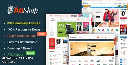 ThemeForest - AaShop v1.0.1 - Responsive & Multipurpose Sectioned Bootstrap 4 Shopify Theme - 23181870