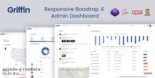 ThemeForest - Griffin v1.2 - Developer-friendly Bootstrap 4 Admin Dashboard & UI Kit - 23503962