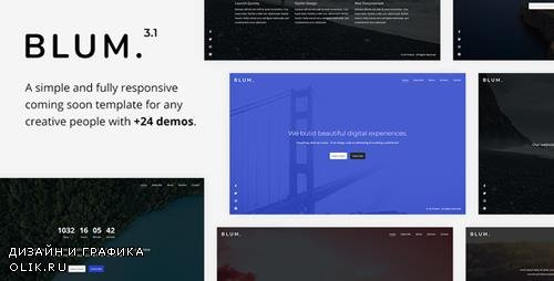 ThemeForest - Blum v3.1 - Responsive Coming Soon Template - 8992023