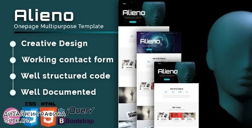 ThemeForest - Alieno v1.0 - Onepage Multipurpose Template - 23914425