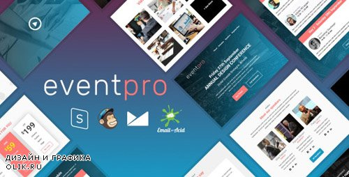 ThemeForest - EventPro v1.0 - Responsive Email Template with MailChimp Editor, StampReady & Online Builder - 24119196