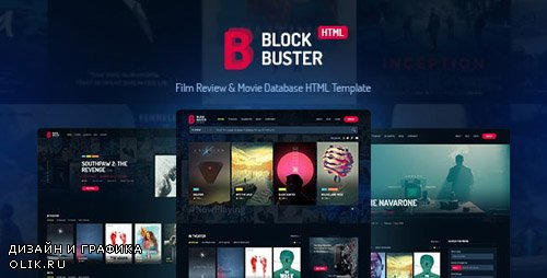 ThemeForest - BlockBuster v2.0 - Film Review & Movie Database HTML Template - 20011814