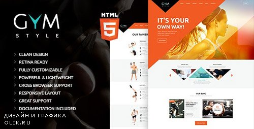 ThemeForest - GYM v1.0 - Sport & Fitness Club HTML Theme - 14262156