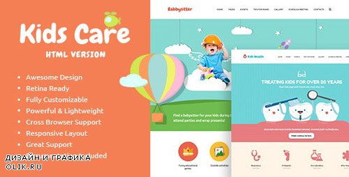 ThemeForest - KidsCare v1.0 - Multi-Purpose Children Site Template - 14428209