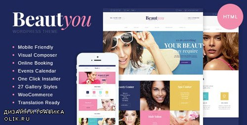 ThemeForest - BeautYou v1.0 - Beauty, Hair & Spa Salon HTML Template - 14515266