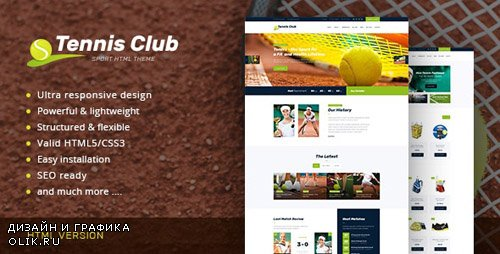 ThemeForest - Tennis Club v1.0 - Sports & Events Site Template - 17368770
