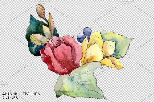 Bouquet Paint summer watercolor png - 3941498