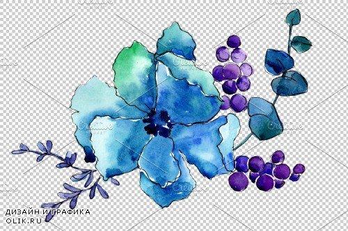 Bouquet Elegance watercolor png - 3941339
