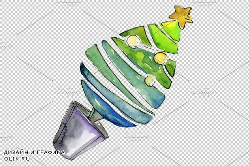 Christmas sweets watercolor png - 3941727