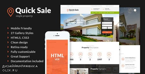 ThemeForest - Quick Sale v1.1 - Real Estate HTML Theme - 13395060