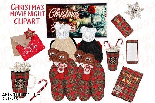 Christmas Girls ,Christmas clipart - 3934216