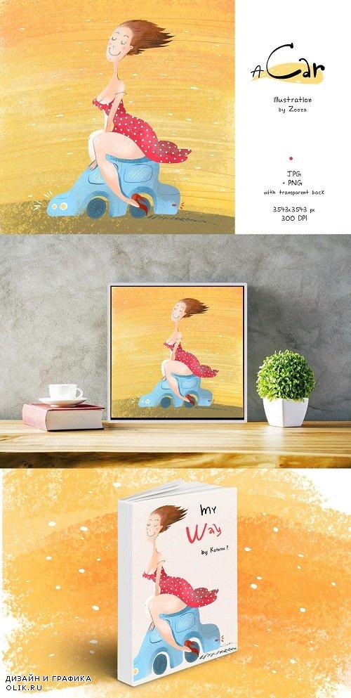 A Car - illustration - 3941767