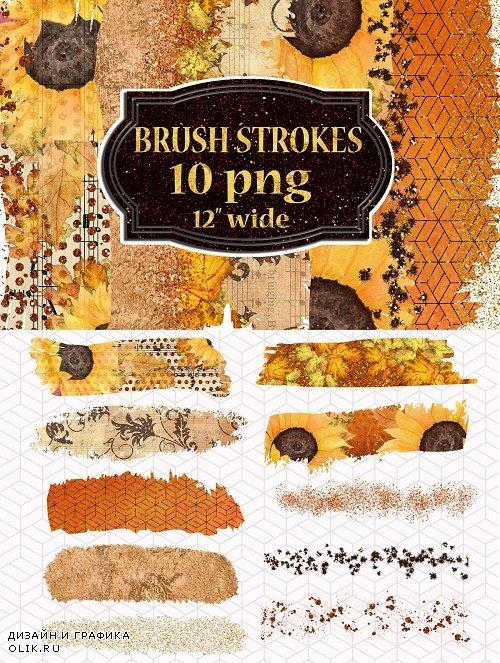 Autumn Brush Strokes,Fall Palette - 3942667