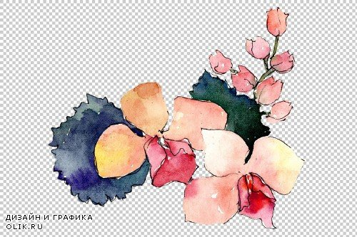 Bouquet of flowers Charm watercolor - 3936902