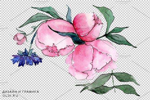 Bouquet Mrs. watercolor png - 3935759