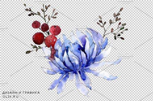 Bouquet flower palette watercolor - 3936147