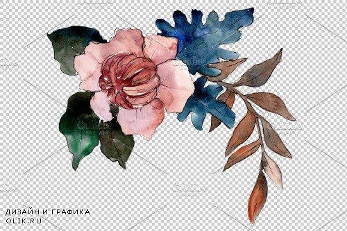 Bridal bouquet watercolor png - 3934904