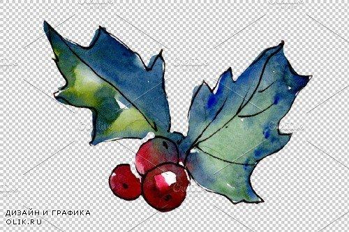 Christmas tea drinking watercolor - 3950727