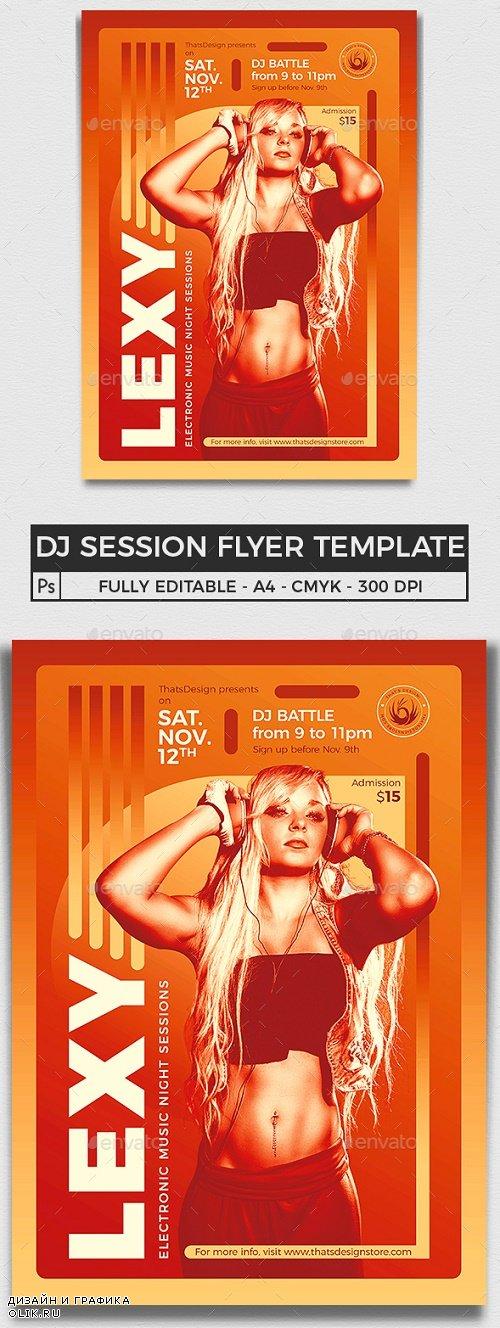 DJ Session Flyer Template V8 - 24189388 - 3956501