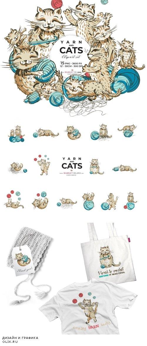 Yarn Cats clipart - 3953416Yarn Cats clipart - 3953416