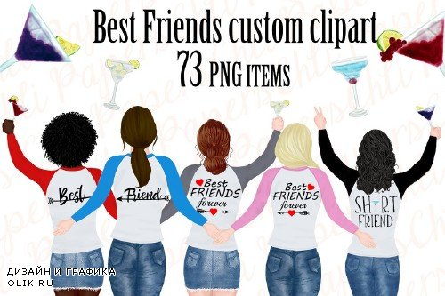 Best friend clipart,Portret creator - 3958207