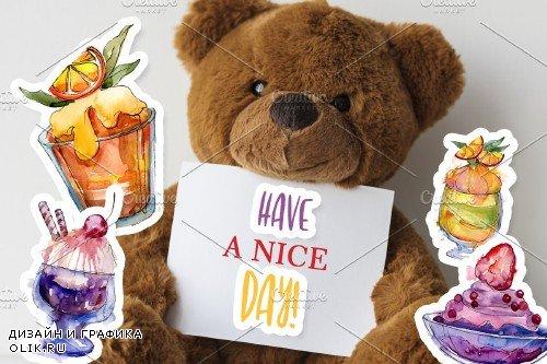 Divine sweetness watercolor png - 3953810