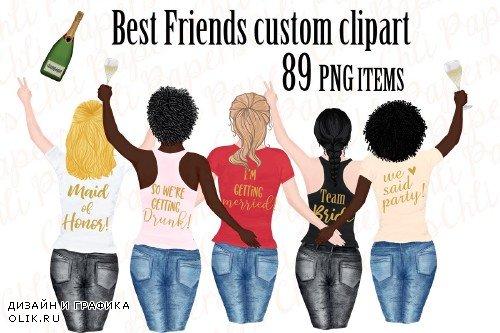 Girls clipart, Best friend clipart - 3953291