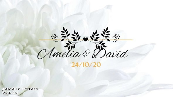 8 Flower Wedding Titles 263001 - PRMPRO Templates