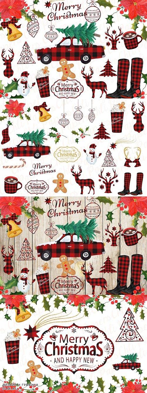 Christmas clipart Christmas car - 3960695