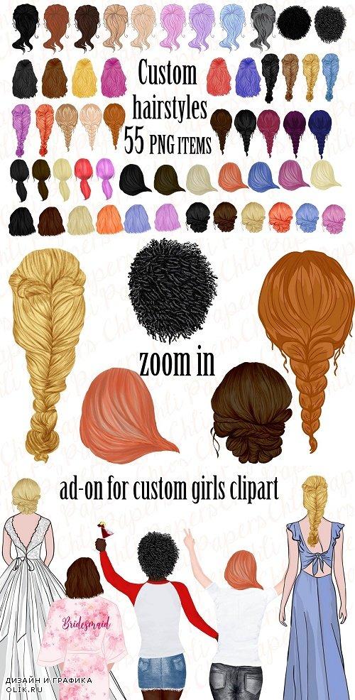 Custom Hairstyles, Hair clip art - 3960735