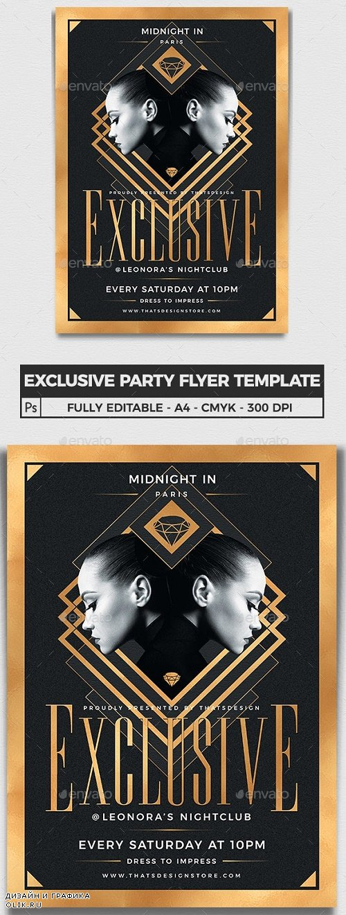 Exclusive Party Flyer Template V2 - 24216692 - 3971264