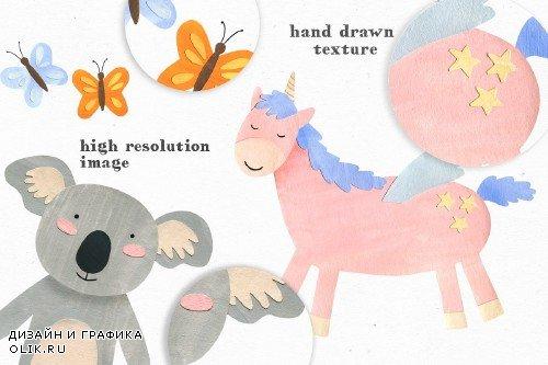 Papercut Animals Clipart - 3811463