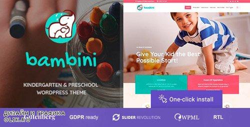 ThemeForest - Bambini v1.0.4 - Kindergarten & Pre-School Theme - 21735982