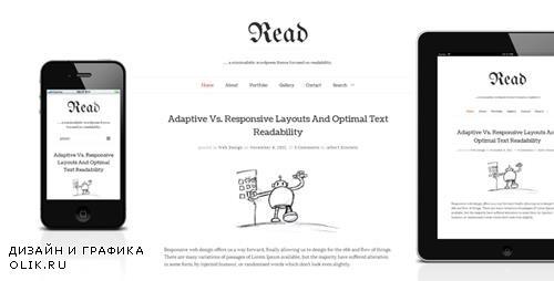 ThemeForest - Read WP v4.4.8 - Minimalist WordPress Blog Theme - 4004353