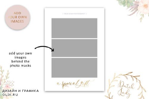 PSD Photo Gift Card Template #55 - 3975823