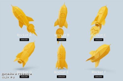 Papercraft rocket - 1815827