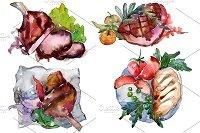 Steak meat watercolor png - 3966807