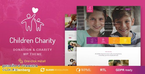 ThemeForest - Children Charity v1.0.8 - Nonprofit & NGO WordPress Theme with Donations - 20208839
