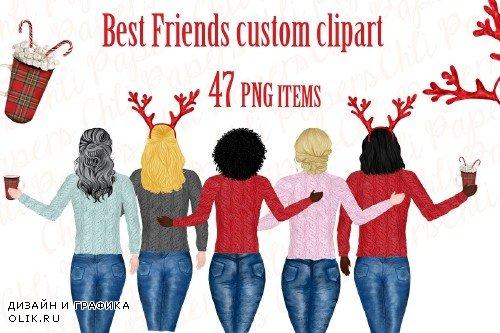 Best friend clipart,Christmas art - 3980838