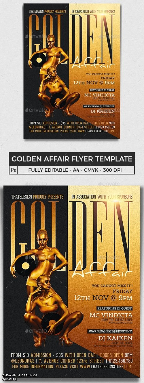 Golden Affair Flyer Template - 11994000 - 309500