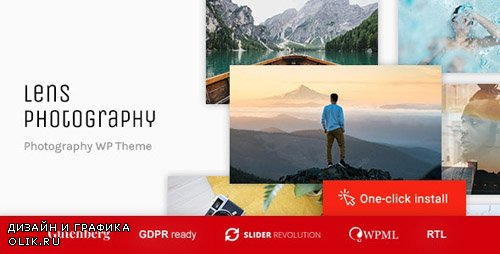 ThemeForest - Lens Photography v1.0.5 - Photography Portfolio WordPress Theme - 20583829
