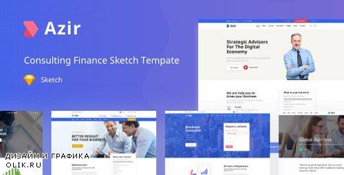 ThemeForest - Azir v1.0 - Consulting Finance Sketch App Tempate - 24162373