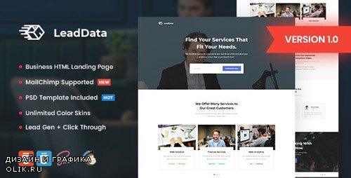 ThemeForest - LeadData v1.0 - Lead Generation HTML Landing Page Template - 23129214