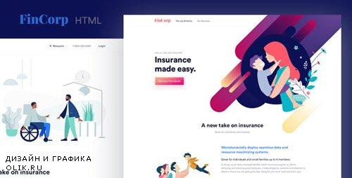 ThemeForest - FinCorp v1.0 - Finance, Insurance & Marketing Landing Page Template - 24191751