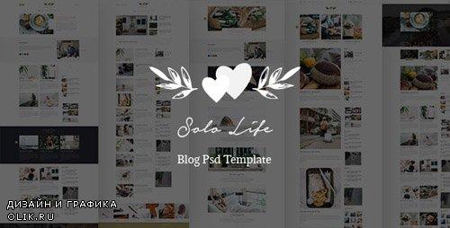 ThemeForest - Solo Life v1.0 - Blog PSD Template - 24167864