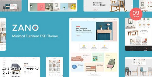 ThemeForest - Zano v1.0 - Furniture eCommerce PSD Template - 24141269