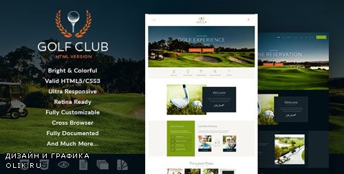 ThemeForest - Golf Club v1.0 - Sports & Events Site Template - 18832259