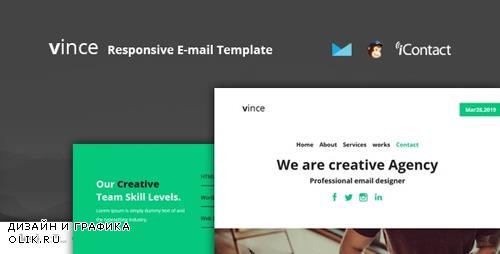ThemeForest - Vince Mail v1.0 - Responsive E-mail Template + Online Access - 23600703